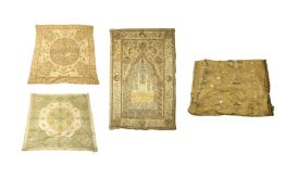 FOUR OTTOMAN METAL THREAD-EMBROIDERED PANELS