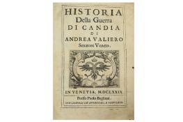 CRETE.- VALIERO (ANDREA) HISTORIA DELLA GUERRA DI CANDIA