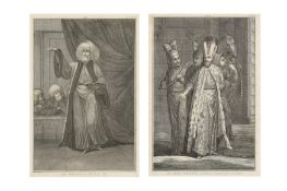 TWO LITHOGRAPHED PLATES: THE MUFTI AND THE NOBLEMAN
