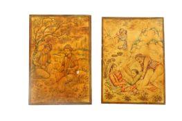 λ Ivory Miniatures on Moral and Lust