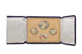 λ Four Erotic Miniatures on Ivory