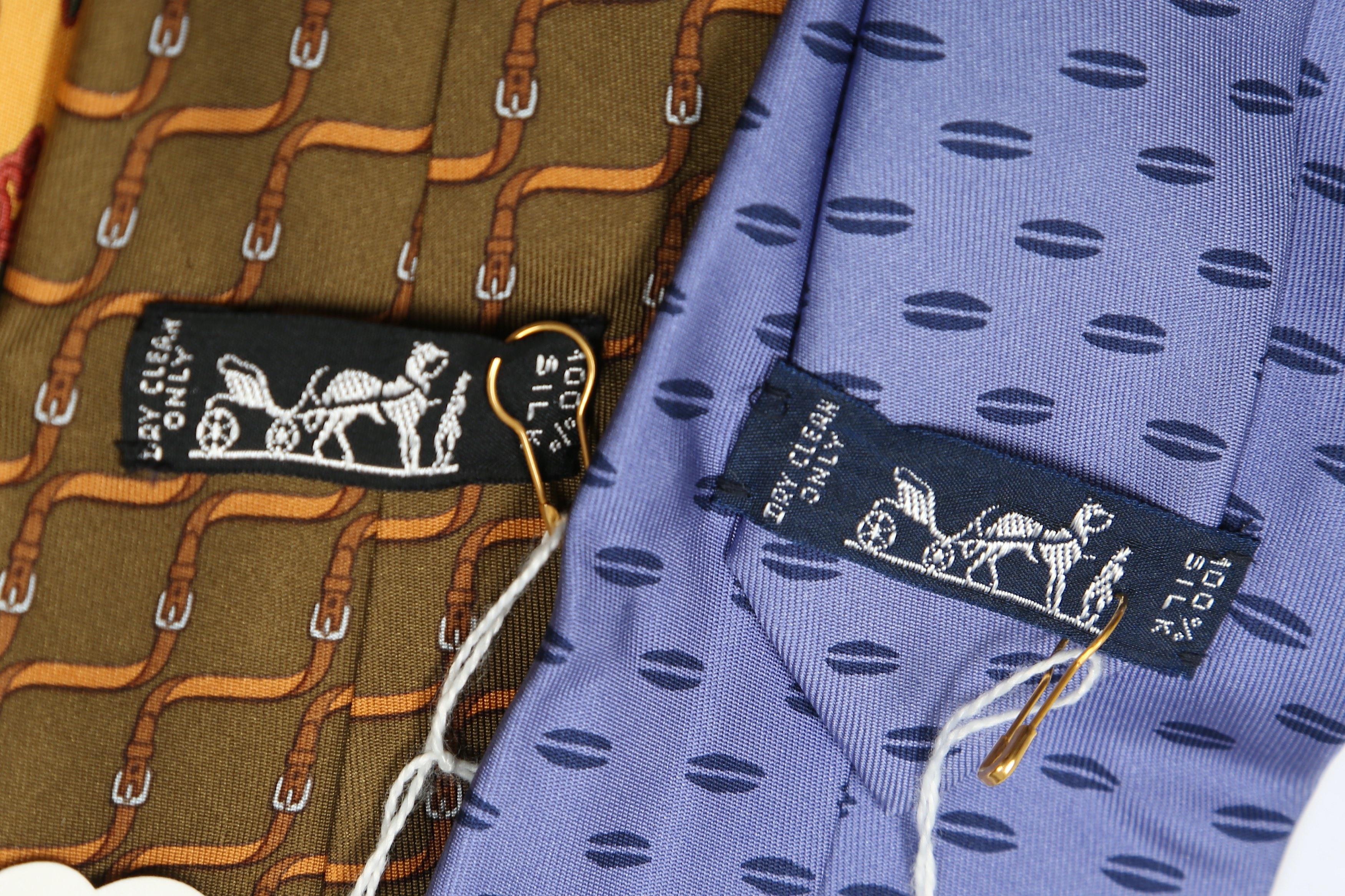 Hermes Silk Ties - Image 3 of 3