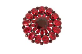 Dolce and Gabbana Ruby Crystal Brooch