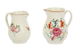 A 18th century Worcester porcelain sparrow beak jug,