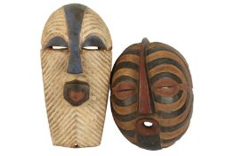 A late 20th century tribal mask,