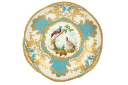 AMENDED DESCRIPTION - An 18th century Sevres Style dished bowl,