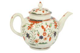 An 18th century Worcester porcelain tea pot and cover, circa. 1770