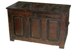 An 18th century oak coffer