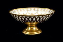 A 19th Century Paris porcelain pedestal bowl