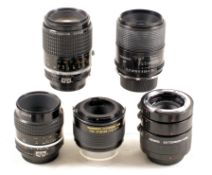 Group of FAST Nikon Macro & Micro Lenses