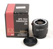 Nikon Fit Sigma EX 2x APO D Converter for Telephoto Lenses.