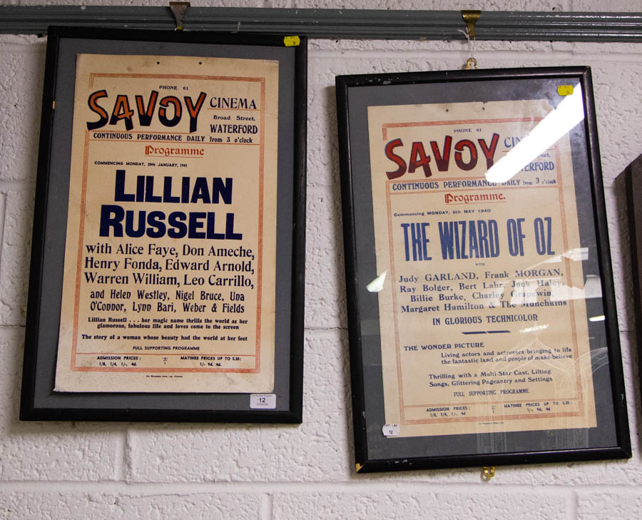 Lot 12 - 2 ORIGINAL SAVOY CINEMA POSTERS - FRAME MEASURES 41 X 61