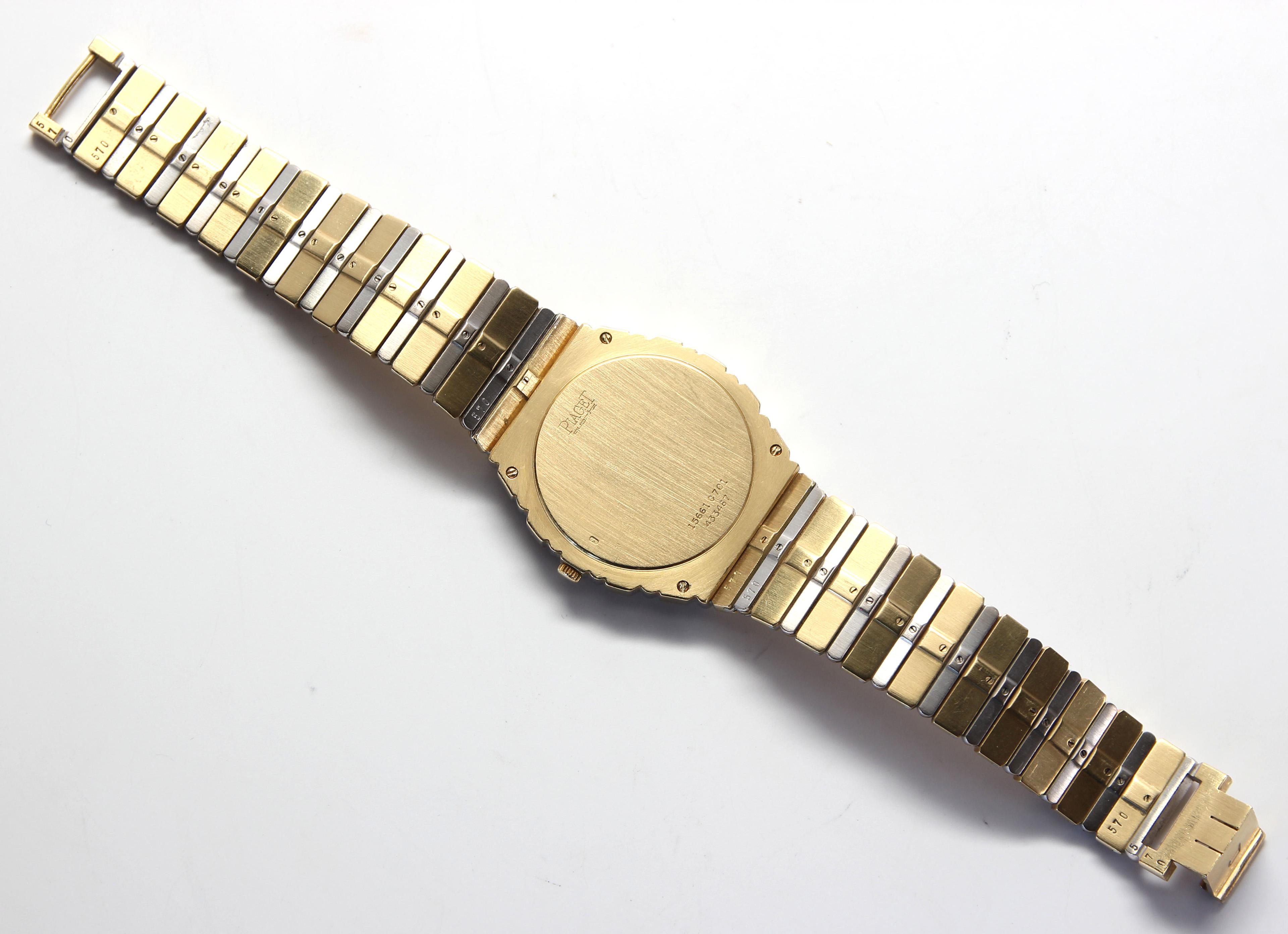 Lot 2880 - Piaget TwoTone 18k gold Polo Wristwatch