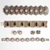 A group of silver jewelry, incl. Mexican