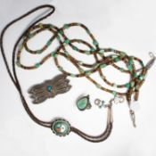 A group of American South West jewelry