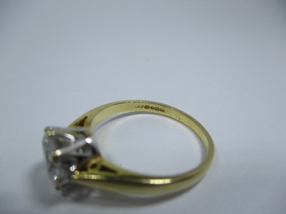 Lot 20 - An 18ct gold and diamond solitaire ring, the stone measuring approx 6.69mm