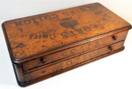 A J & P Coats Sewing Cotton box with two drawers,