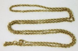 A 9ct gold chain 24in long 5.1g