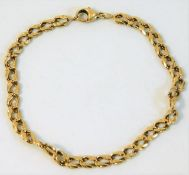 An 18ct gold bracelet a/f approx. 9.6g, 7.5in long