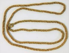 A 9ct gold chain 28in long 23g