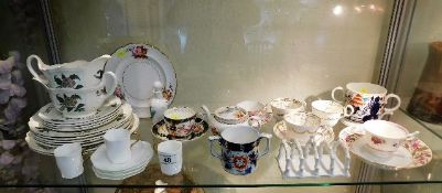 A quantity of mixed ceramics including a 19thC. lo