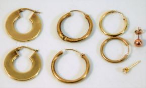 A quantity of 9ct gold items a/f 4.3g