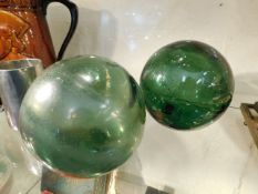 Two glass floats