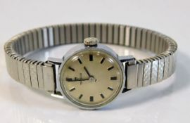 A ladies stainless steel Tissot wrist watch