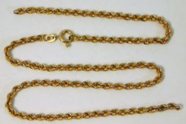 A 9ct gold chain a/f 16in long 3.6g