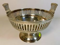 A silver plated fruit bowl