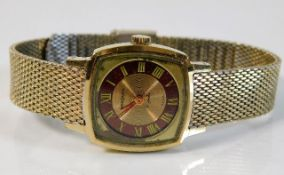 A ladies Sekonda 17 jewel USSR wrist watch
