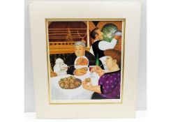 A Beryl Cook print, Dining Out in Paris 2001, 124/