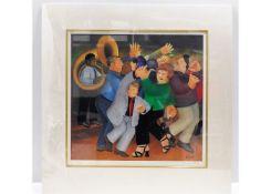 A Beryl Cook print, Jiving To Jazz 2001, 331/650 h