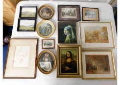 A quantity of mostly antique prints & pictures
