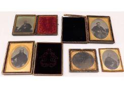 Four 19thC. daguerreotype photographs, originally