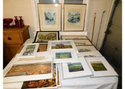 A quantity of mixed prints & pictures