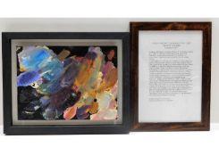 A framed & mounted original Robert Lenkiewicz pall