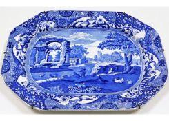 A 1930's Spode blue & white transfer ware Italian