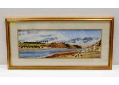 A framed, signed John Skinner watercolour of River