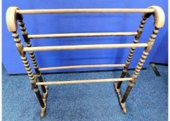 An antique turned clothes airer