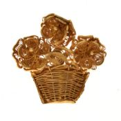 19th Century filigree giardinetto brooch, unmarked, 10.8g gross, cased Condition: No obvious faults.