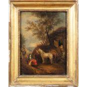 Neapolitan painter 18th century 32x24,5 cm.