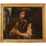 Caravaggesco painter 17th century 80x95 cm.