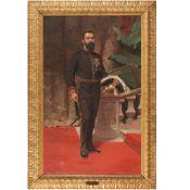 Erulo Eroli Roma 1854 - 1916 248x155 cm.