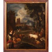 Bambocciante painter late 17th century 58x49 cm.