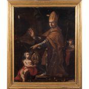 Neapolitan painter 17th century 76x62 cm.