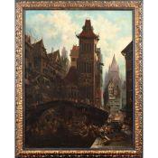 Flemish painter 19th century 111x86x cm.