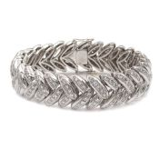 18kt white gold and diamond bracelet weight 80 gr.