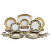 Lalique, Limoges manufacture, porcelain table service (87) France, 20th century Coquelicots d'or