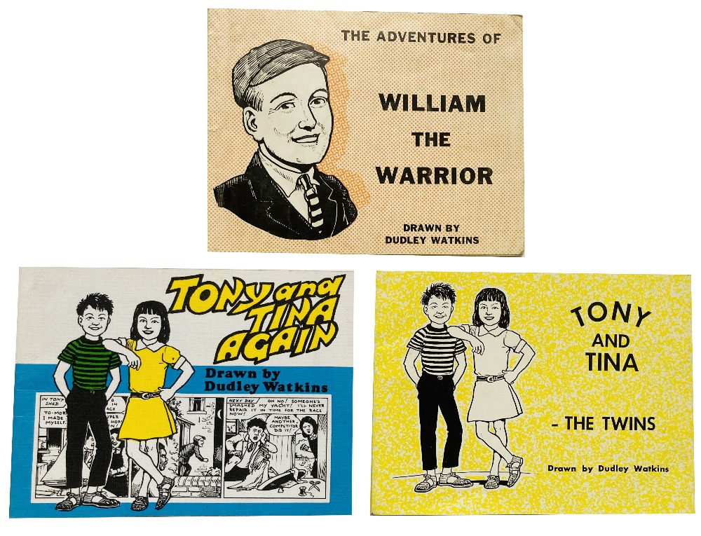 Lot 52 - Dudley Watkins evangelical picture books: The Adventures of William the Warrior (1960), Tony and